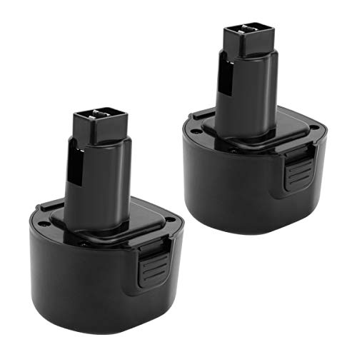Joiry 9.6V 3000mAh Ni-MH Replacement Battery Work with DEWALT DE9061 DE9062 DW9061 DW9062 DE9036 DW911 DW921 DW9614 DW050 DW926K-2 DW952 DW955K-2 DW967K (2 Pack) by Joiry