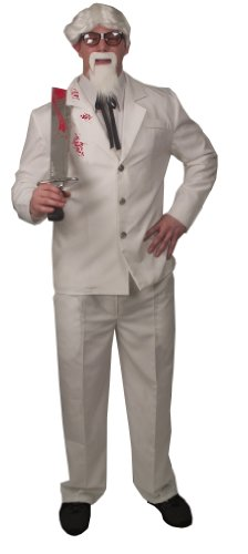 Colonel Costumes Halloween Sander (Colonel Sanders Costume Adult Standard)