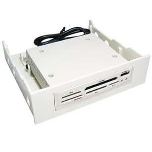 Interno Memoria Tarjeta Lector Para 5,25 CD DVD Bahía Con USB Puerto Beige