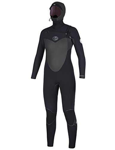 Rip Curl Women's Flash Bomb 5/4 Hooded Wetsuit, Black, 10 (Rip Curl Flash Bomb Wetsuit)