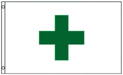 Flags With Cross - 3x5 Green Cross Medical Marijuana Dispensary Flag Business Banner Sign