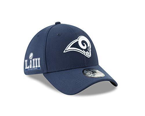 (New Era Los Angeles Rams Navy 39Thirty Super Bowl LIII Bound Flex Fit (Md/Lrg))