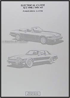 1990-1991 Jaguar XJ-S Electrical Guide Wiring Diagram ... on