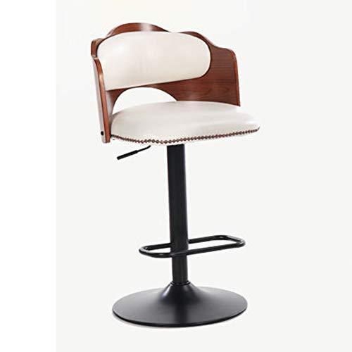 Modern Bar Stools, Set with Backrest, Leatherette Exterior, Adjustable Swivel Gas Lift, Chrome Steel Footrest \u0026 Base for Breakfast Bar, Counter, Kitchen and Home Barstools ()