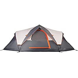 Mobihome 6 Person Tent Family Camping Quick Setup, Instant Extended Pop Up Dome Tents Outdoor, with Water-Resistant…