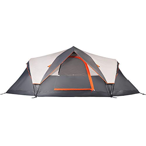 Mobihome 6-Person Tent Family Camping Quick Setup, Instant Extended Dome Tents Outdoor, with Waterproof Rainfly and Mesh Roofs & Door & Windows – 13.5′ x 7′