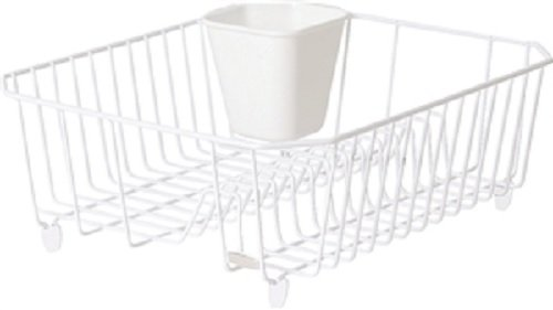 Rubbermaid Small Dish Drainer with Microban (FG6008CAWHT) Rubbermaid Consumer