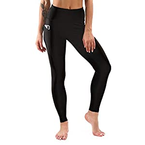 Sweetaluna Fleece Lined Leggings for Women,High Waist Thick Yoga Pants Workout Leggings,Winter Running Tights Black