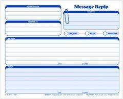 Adams NC3875-50 Message Reply Unit Set, carbonless, 50 ST per PK