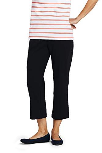 Lands' End Women's Tall Sport Knit Elastic Waist Pull On Crop Pants ()
