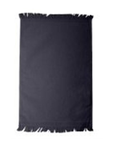 Anvil Fringed Cotton Sheared Terry Spirit Towel, Navy, One Size