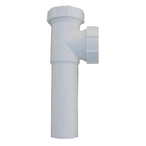 LASCO 03-4281 White Plastic Tubular 1-1/2-Inch Slip Joint Baffle Tee withTailpiece Nuts and - Baffled Tee