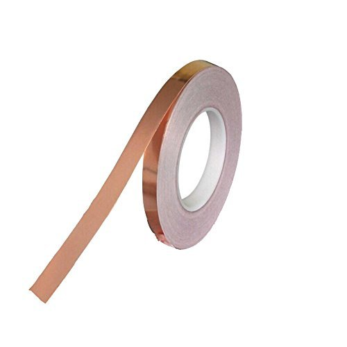 Stained Glass Copper Foil Tape with Conductive Adhesive (1/4inch X 55yards) - Soldering, Paper Circuits, Electrical Repairs, Grounding, EMI Shielding - Extra Long Value Pack At a Great Price