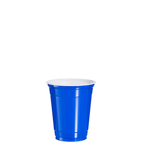 Dart P12SB 12 oz Squat Coex PS Party Cup Blue (Case of 1000)
