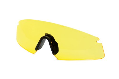 Revision Military 4-0384-0220 Replacement Lenses - Sawfly Eyewear with Black Nosepiece, Yellow High-Contrast, Regular