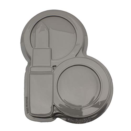 - CK Products 49-5404 Plastic Lipstick Compact Cake Pan, White