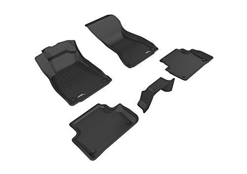 3D MAXpider L1AD04201509 Black All-Weather Floor Mat for Select Audi A4 Models Complete Set ()
