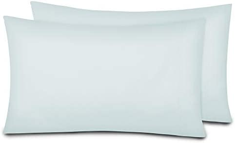 Laundry by Design – 2 Piece, Soft Smooth Cotton King Size Pillowcase Set, Oeko-TEX Certified, Light Blue