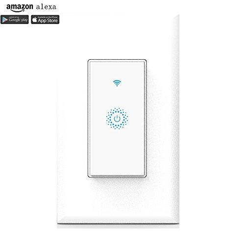 smart wifi light switch in wall  wireless lighting on  off