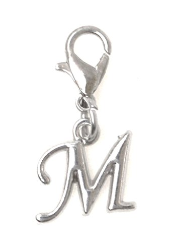 (It's All About...You! Letter Initial Stainless Steel Clasp Clip on Charm Letter M)