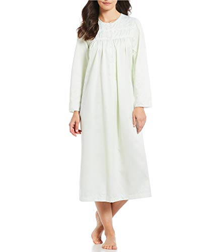 Miss Elaine Women's Printed Brushed Back Satin Long Gown (Sage, Medium) ()