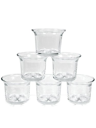 Beautiful Amazon.com: 6 pc Clear Glass Votive Holders Flared Candle Holder  LN01