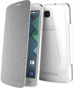 Alcatel F-GCGB33A0SB1C1-A1 Funda para teléfono móvil Libro Plata: Amazon.es: Electrónica