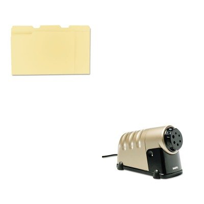 KITEPI1606UNV12113 - Value Kit - X-acto High-Volume Commercial Desktop Electric Pencil Sharpener (EPI1606) and Universal File Folders - Volume Commercial Electric Pencil Sharpener