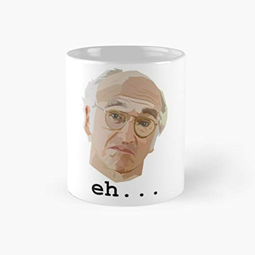 Larry David. Eh. Mug, larry david Funny Mugs, 11 Ounce Ceramic Mug, Perfect Novelty Gift Mug, Tea Cups, Funny Coffee Mug 11oz, Tea -