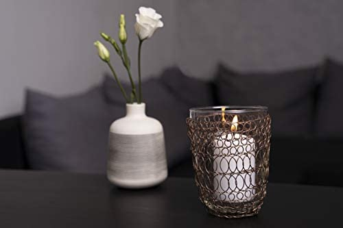 Kobolo Kerzenhalter f/ür 3 Teelichter in edlem Rautendesign
