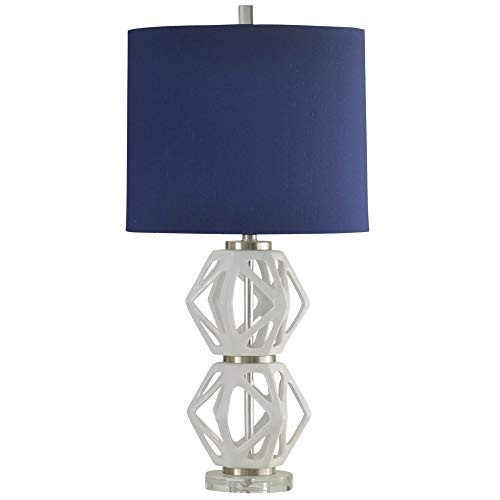 Delacora SC-DE-A335 Blaine 33'' Tall Accent Table Lamp with Hardback Fabric Shade from Delacora