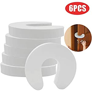 [Upgrade] (6 Packs) BYETOO Finger Pinch Guard,Baby Proof Door Stopper,Protect Child Fingers with Soft Foam Guard,Prevent…