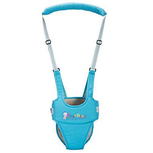 OLizee Breathable Handheld Baby Child Harnesses Learning Assistant Walker Toddler Walking Helper Kid Safe Walking Protective Belt(Blue)