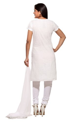 Womens-Indian-Salwar-Kameez-Set-White-X-Large