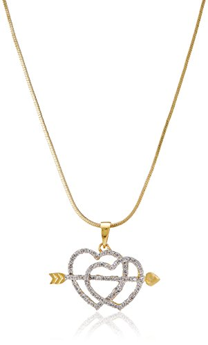 SIA Art Jewellery (NACKLESS) for Women (Golden) (AZ3096)