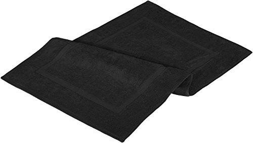 Utopia Towels 21-Inch-by-34-Inch Luxury Hotel-Spa Tub-Shower Bath Mat Floor Mat, 2 Pack, 100 Percent Ringspun Cotton, Luxury Size, Maximum Absorbency, Machine Washable, Black by Utopia Towels (Image #3)