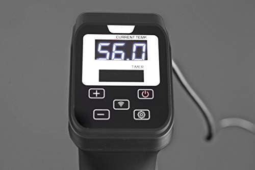 Caso 1327 SV 1200 Pro Smart Régulation de la température précise jusqu'à 90 °C par paliers de 0,5 °C, entièrement étanche sous vide, acier inoxydable 18/8, 30 l