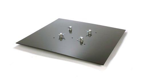 Global Truss Base Plate 3.3S, Black Powder Coated ()