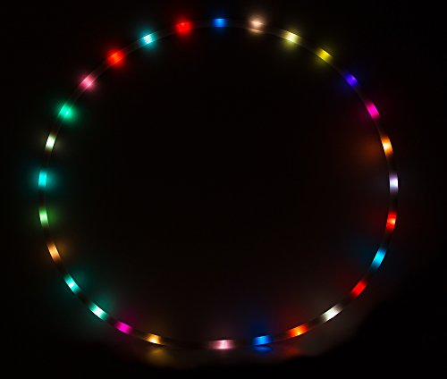 LED Hula Hoop 36'' Multi Color EL Lighting Perfect for Festivals and Rave - 28 Color Changing LED - Plain White No Wrapping by Rave Raptor (Image #1)