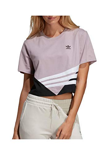 - adidas Originals Women's Crop Tee, Soft Vision/Black Medium