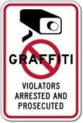 Lilyanaen New Metal Sign Aluminum Sign NO Graffiti Violators Arrested and PROSECUTED Sign for Outdoor & Indoor 12
