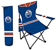NHL Hockey Licensed Compatible with Edmonton Oilers Team Logo Child Folding Chair with Cup Holder