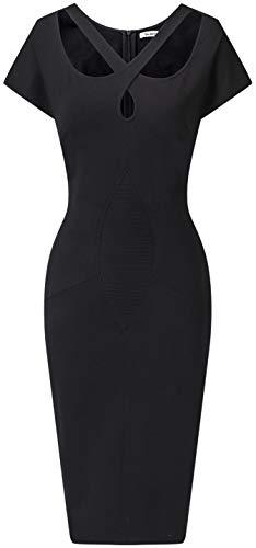 DILANNI Womens Vintage V Neck Slim Style Evening Party Dress Cocktail Formal Dresses XS-XXL