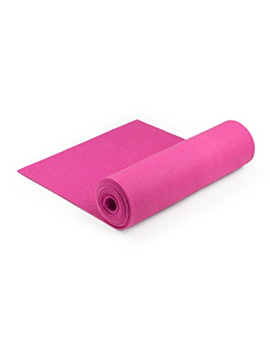 100% Wool Designer Felt by the Foot: 70.9'' x 7 yd x 3mm Thick, Pink by The Felt Store