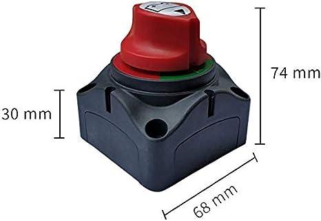 xiegons0 Batterie Trennschalter mit 4 Halterung Schrauben 300A Batterie Isolator Schalter Master Power Ausschnitt Notschalter Wasserdicht Marine Schalter f/ür Auto Rv Doot Lastwagen ATV Fahrzeuge