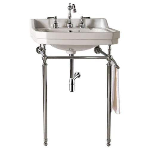 (Single Console Sink with Chrome Finish Stand)