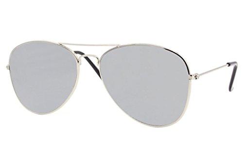 Piloto Metálicas Ca Cheapass 033 Gafas Diseñador 400 Aviador Espejadas Hombres Plateado Sol de Gafas UV Mujeres OvqrBUOxzw