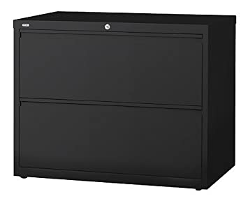 36u0026quot;W 2 DRAWER STEEL LATERAL FILE CABINET, BLACK BY WORKPRO (Item