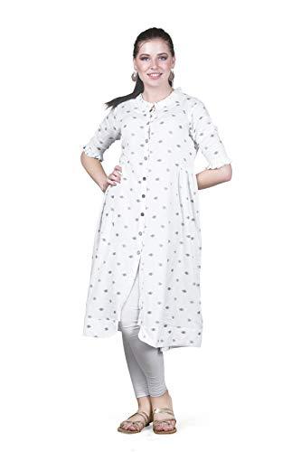 UNI LARENN Women's Pleated Knee Length Dress