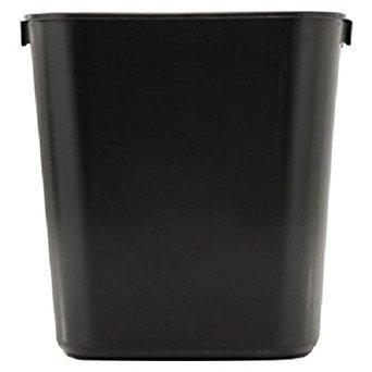 RUBBERMAID FG295500BLA Open-Top Trash Can, Rectangular, 3 gal.